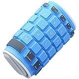 dizauL Clavier Bluetooth clavier universel sans fil étanche en silicone pliable,bleu