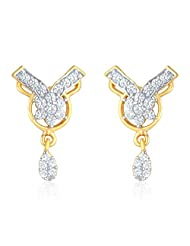 Mahi Gold Plated Timeless Touch Earrings With CZ For Women ER1193605G