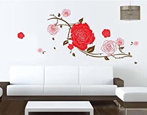 Bigmouth Big Roses with Some Leaves Removable Wall Decal Home Decor Sticker Flower Mural from Bigmouth