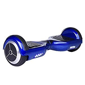 EROVER Two Wheels Smart Self Balancing Scooters Electric Drifting Board Personal Adult Transporter with LED Light (Bluesky)