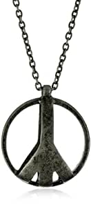 Low Luv by Erin Wasson Peace Cage Silver Necklace