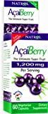 Natrol AcaiBerry, Ultimate Super Fruit (1200mg), 60 Count Vcaps