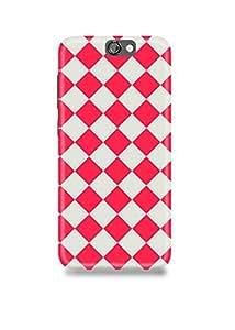 Pink & White Pattern HTC A9 Case