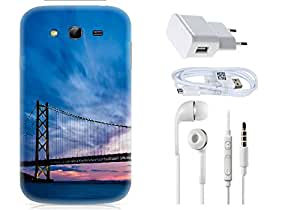 Spygen Samsung Galaxy Grand I9082 Case Combo of Premium Quality Designer Printed 3D Lightweight Slim Matte Finish Hard Case Back Cover + Charger Adapter + High Speed Data Cable + Premium Quality Handfree