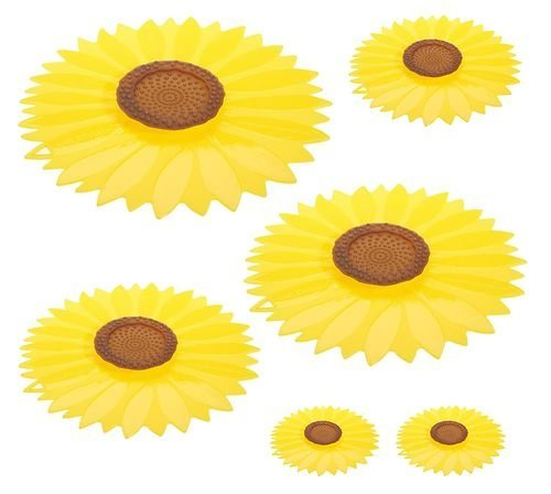 Charles Viancin Sunflower Silicone Suction Lid & Food Cover (Set Of 3)