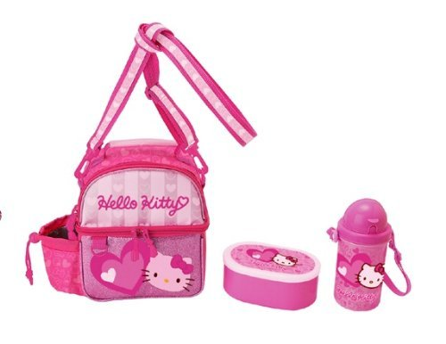 Lunch Bag W/containr & Bottle Burger Hello Kitty - 1