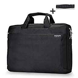 ShengTS 17 Inch Laptop Bag Shoulder Bags Fits up to 17.3 Inches Gaming Laptops Nylon Waterproof Fabric Shockproof Sleeve for Notebook Computer Mackbook (17.3 Inches, Black)