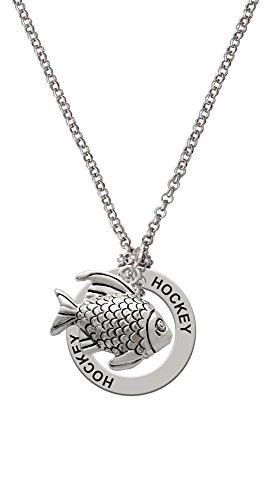 Antiqued Fish - Hockey Affirmation Necklace