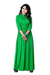 Sadhana Impex Rayon Cotton Dress,Green(m)