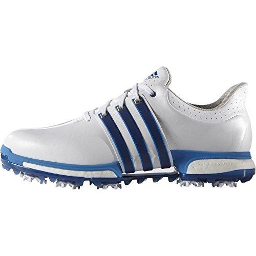 adidas Herren Tour 360 Boost Wd Golfschuh, Blanc/Bleu, US 10 | UK 9.5 | EU 44