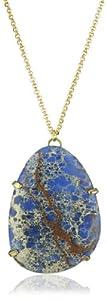 Yochi Royal Blue Stabilized Jasper Pendant Necklace, 30''