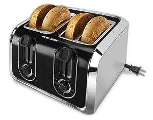 Black & Decker TR1400SB 4-Slice Stainless-Steel Toaster by Black & Decker