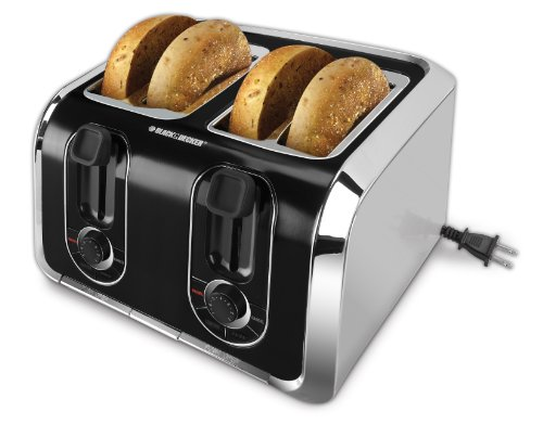 Buy Black & Decker TR1400SB 4-Slice Stainless-Steel Toaster