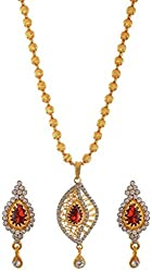 Jewelstone Gold Plated Non-Precious Metal Necklace Set for Women