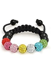 Bling Jewelry Multicolor Crystal Childrens Shamballa Inspired Bracelet