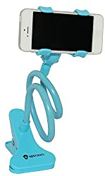 ApeCases Branded Universal Flexible Mobile Phone Holder Stand for Apple iPhone/Samsung/Android Mobiles (Blue)
