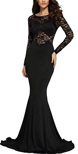 sunifsnow-robe-special-grossesse-uni-manches-longues-femme-noir-noir-s