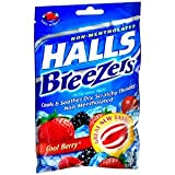 Special pack of 5 HALLS FRUIT BREEZER COOL BERRY 25 per pack
