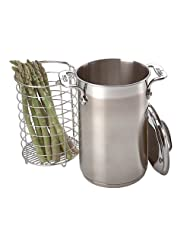 All-Clad Stainless Asparagus Pot with Steamer Basket by All Clad