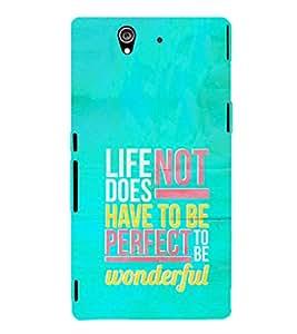 EPICCASE Wonderful life Mobile Back Case Cover For Sony Xperia Z (Designer Case)