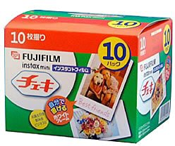 FUJIFILM Instax Mini Cheki Film 10pack(10picture X10)