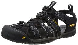 KEEN Men\'s Clearwater CNX Sandal,Black/Gargoyle,10 M US
