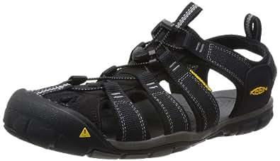KEEN Men's Clearwater CNX Sandal,Black/Gargoyle,7 M US