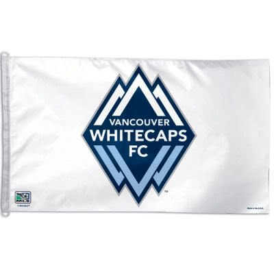 VANCOUVER WHITECAPS OFFICIAL LOGO 3FTX5FT BANNER FLAG