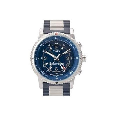 Timex Men's T49531 Expedition E-Instruments E-Compass Blue Stainless Steel Bracelet Watch