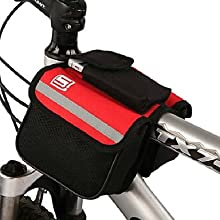 Outdoor Textile Portable Colorful Bicycle Front Bag Random Color