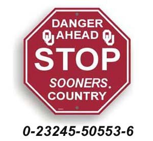 University of Oklahoma Sooners Stop Sign NCAA набор торфотаблеток archimedes 86mm 6шт 92810