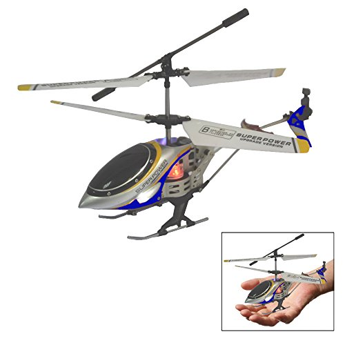 Toy Cubby Mini Alloy Design RC Helicopter Battery Operated Remote Controlled Helicopter - Blue (Battery Operated Helicopter compare prices)