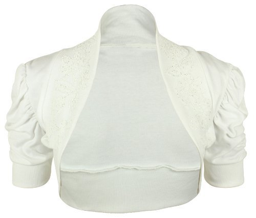 New Ladies Plus Size Ruched Short Sleeve Bead Stretch Bolero Womens Shrug Crop Cardigan Top