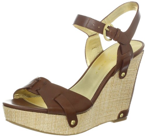 Ivanka Trump Women'S Hollyann Wedge Sandal,Brown Leather,8.5 M Us front-192563