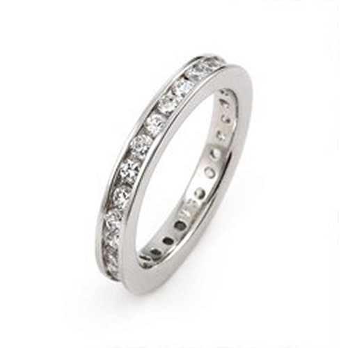 eternity cubic zirconia cz sterling silver wedding band review