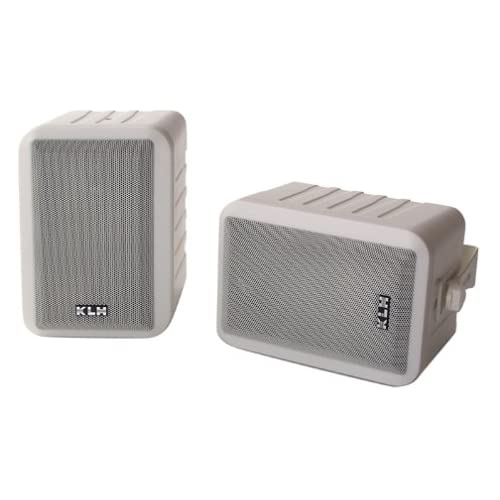 KLH 990 Indoor/Outdoor Surround Speakers (White, Pair) (Discontinued