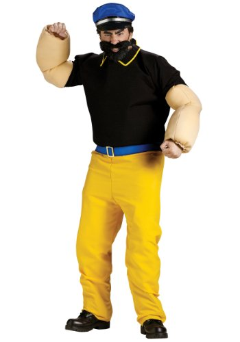 Funworld Mens Popeye Brutus Cartoon Tv Characters Theme Party Dress Costume