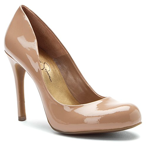 Jessica Simpson Women's Calie Pump,Nude Patent,8 M US
