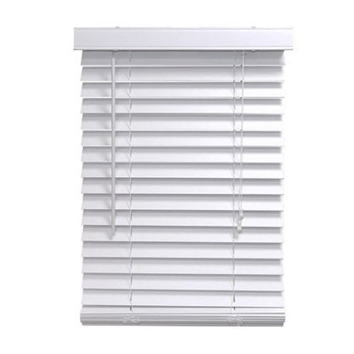 homepointe 2364fww white fauxwood mini blind 2inch by 23inch by 64