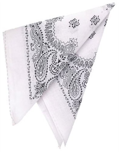New White Country Western Costume Bandana Head Scarf