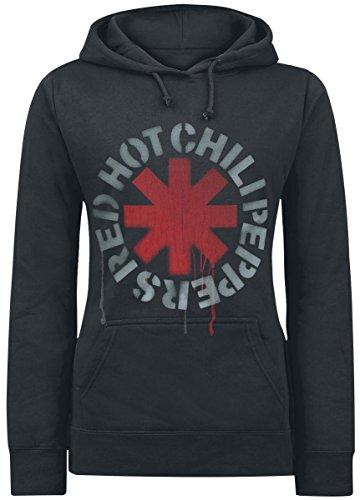 Red Hot Chili Peppers Stencil Felpa donna nero M