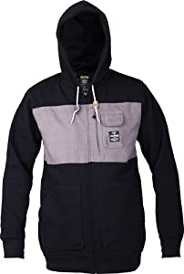 Analog Bureau Full Zip Hoodie 2014, True Black, S