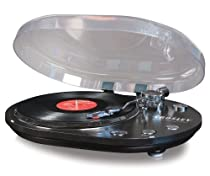 Crosley CR6004A-BK Oval USB Turntable (Black)