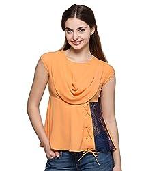 Tryfa Women's Top (TFTPCW0000132-XS-L_Orange_Large)