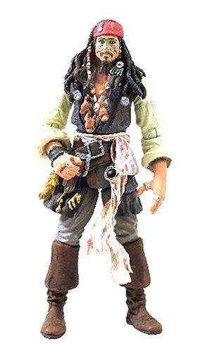 Disney Pirates Of The Caribbeans Dead Mans Chest: Cannibal King Jack Sparrow with Head Hunter Crown & Pistol