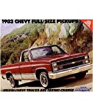 1983 CHEVROLET PICKUP TRUCK Sales Brochure Book