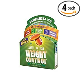 Applied Nutrition Triple Action Weight Control, 30-Count Container (Pack of 4)