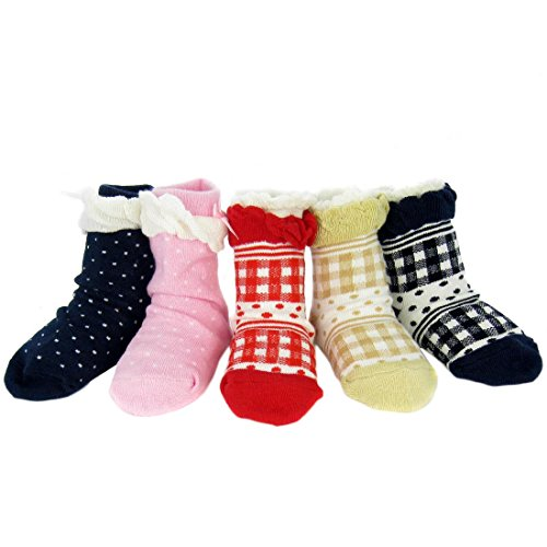 kf-baby-girl-non-skid-lace-ruffle-socks-value-pack-set-of-5-pairs-6-12-months