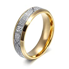 buy Womens Stainless Steel Cz Cubic Zirconia Couple Ring For Valentines Wedding Engagement,Size 7