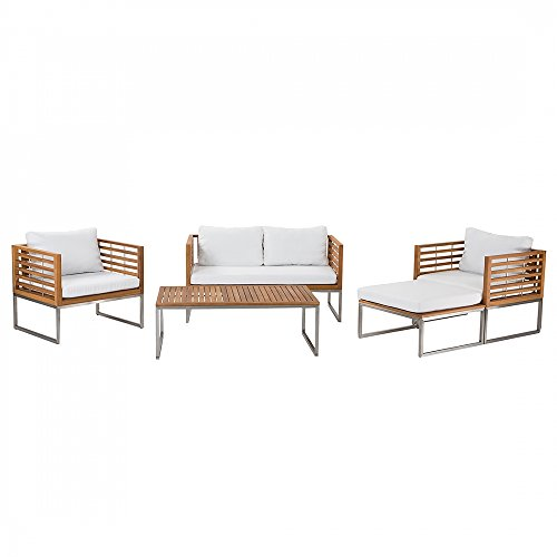Edelstahl-Gartenmbel-Set-Tisch-Sofa-2x-Sessel-Ottoman-BERMUDA